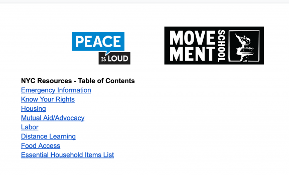 Screenshot of Google Doc showing Table of Content.